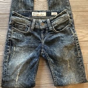 BKE Stella Skinny Stretch Acid Wash Jeans Size 24R